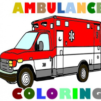 Ambulance Trucks Coloring Pages