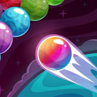 Bubble Shooter Colored Planets Online