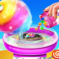 Sweet Cotton Candy Shop: Candy Cooking Maker Game Online
