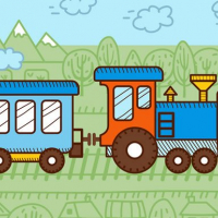 Trains For Kids Coloring Online