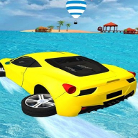 Water Surfing Car Stunts Game 3D